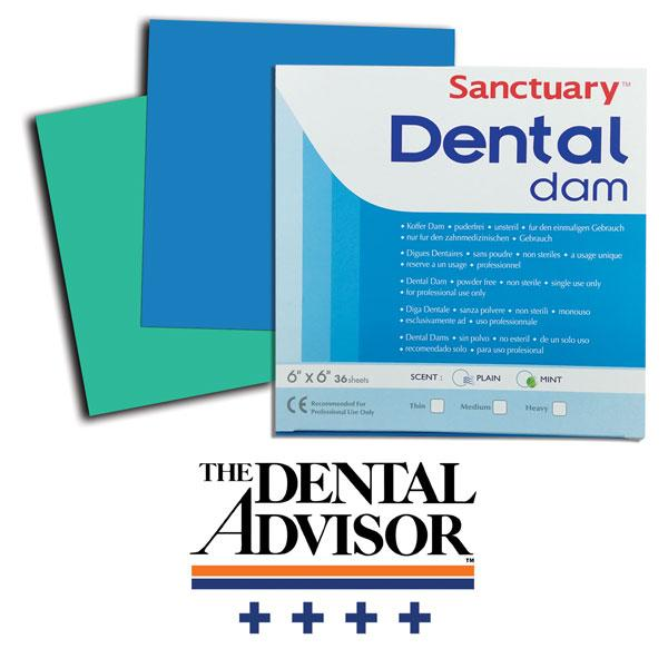 Sanctuary powder free dental dams