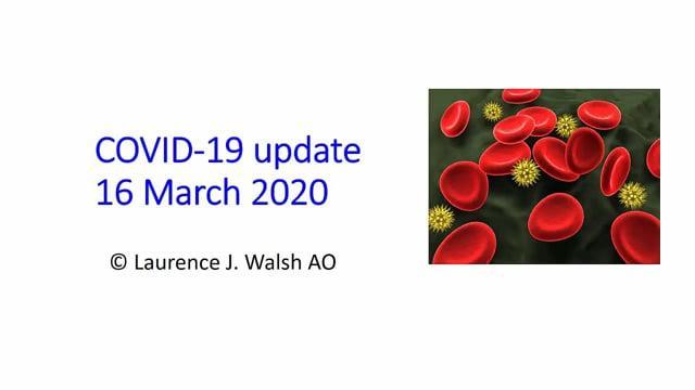 COVID-19 update: 16 March 2020