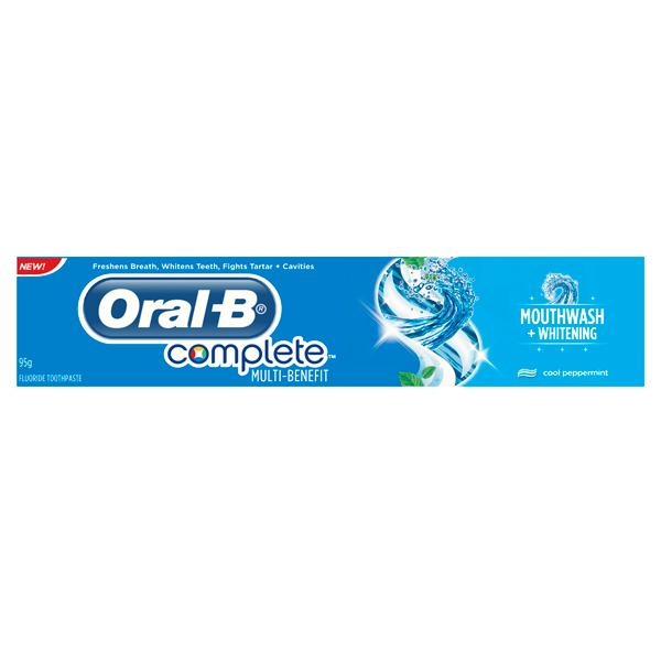 Oral-B Complete Mouthwash + Whit...