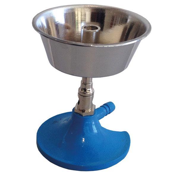 Bunsen burner with wax pot