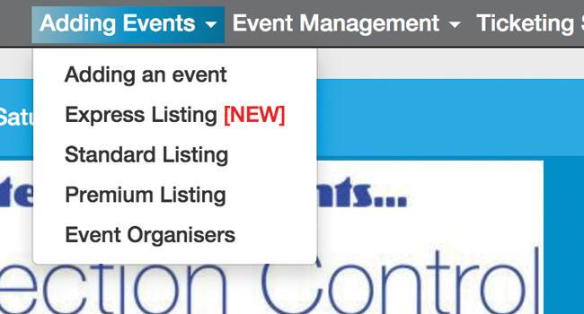 New Express Listings for Dentevents.com website